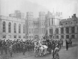 [The 2nd (Special Service) Battalion, Royal Canadian Regiment cheering to H.M. Queen Victoria at ...