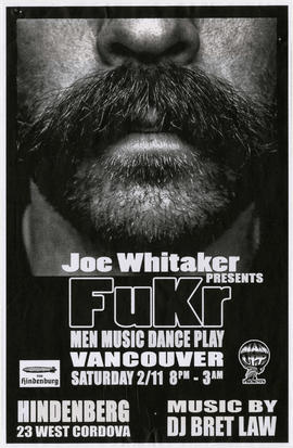Joe Whitaker presents Fukr : new music dance play : Hindenberg, 23 West Cordova