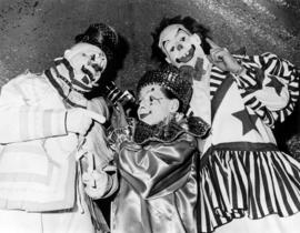 Al Ackerman, Johnny Cirillino and Chuckles : [publicity photo of clowns]