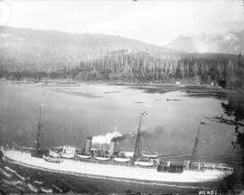 S.S. Empress of Japan passing through the Narrows, Vancouver, B.C.