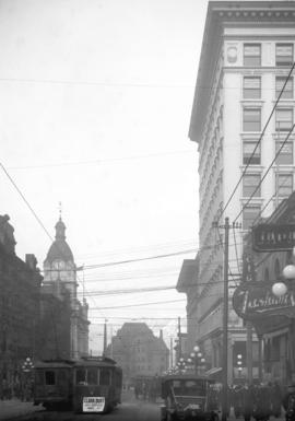 [View of Granville Street, looking north from Pender Street]