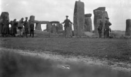 [Canadian troops at Stonehenge, England]