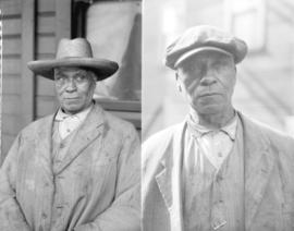 [Two portraits of Fielding William Spotts, age 78, at 217 1/2 Hogan's Alley, Vancouver]