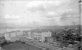 [View along Granville Street, looking north from the Hotel Vancouver]