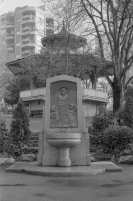 Alexandra Park - Joe Fortes Memorial drinking fountain, front (bandstand behind)