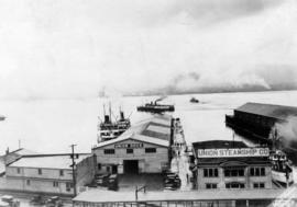 [Union Dock showing departure of ships]