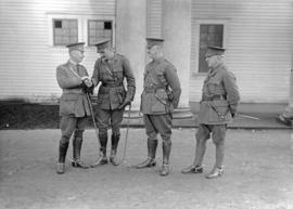 29th Battalion and Yukon Detachment [four officers]