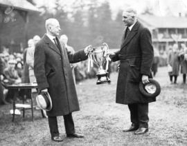 [Mayor L.D. Taylor awarding Seaforth cup]