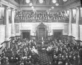 [View of the interior of the House of the Legislature from the visitor's gallery]