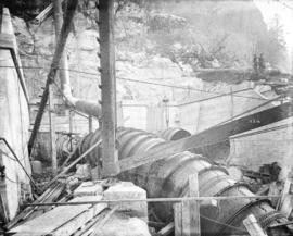 [Upper portion of penstock number one for Buntzen Lake Power Plant number two]