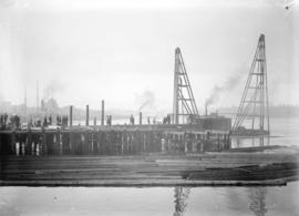[Construction of pier number two at Evans, Coleman and Evans dock]