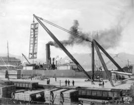 CPR Shed Wharves 50 Ton Derrick [CPR frieghter and derrick]