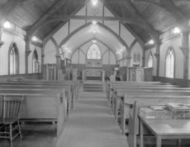 [Interior of Anglican Church at] Pacific Mills