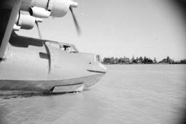 [Close up view of pilots and cockpit of first PBY Catalina produced at the Boeing plant on Sea Is...
