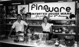 Finnware display of imported household goods