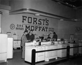Forst's display of Moffat household appliances