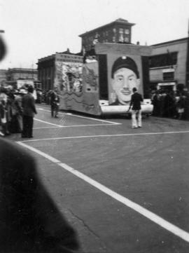 V-J Day parade float
