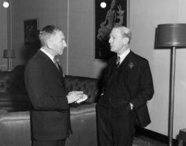 Round Table Christmas Luncheon, Sherwood Lett and Arthur M. J. English