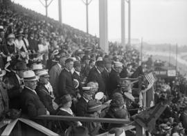Spectators in a stadium
