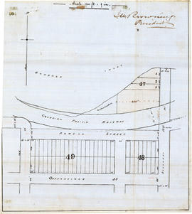 Original plan showing the refinery site