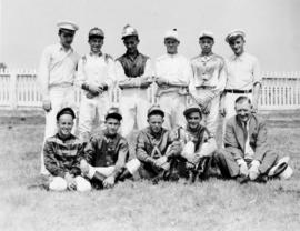 Group of jockeys