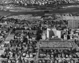 [Aerial view of Vancouver General Hospital complex]