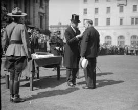Governor General Bessborough Presenting Medals at Court House