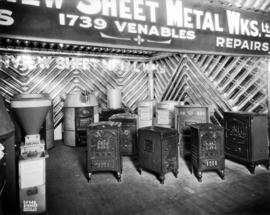 Grandview Sheet Metal Works Co. display of furnaces
