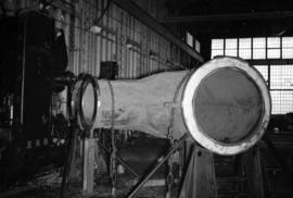 [Large curved pipe at Vancouver Engineering Works]