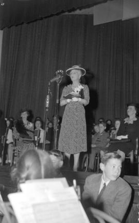 [Princess Alice speaking at Point Grey Junior High School]
