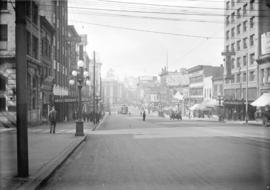 [View of Hastings Street, looking west from Main Street]