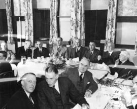 [A B.C. Electric Railway dinner meeting regarding the new buses]