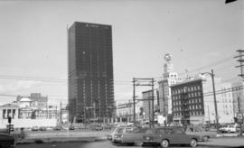 [View of] Pacific Centre [under construction-Georgia between Granville and Howe Streets]