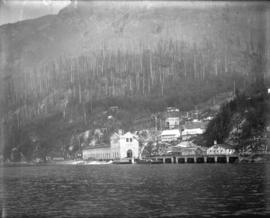 [View of Buntzen Lake Power Plant number one from Indian Arm]