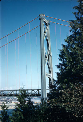 [A Lions Gate Bridge support]