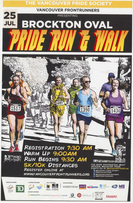 The Vancouver Pride Society [and] Vancouver Frontrunners presenting Pride Run and Walk : Brockton...