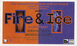 The Vancouver Lesbian and Gay Choir under the direction of Carol Sirianni present Fire & Ice ...