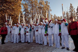 Day 5 Torchbearer Group Shot in Whitehorse, YT