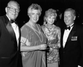 Hugh Pickett and Pat Carney with unidentified woman and man [possibly at Order of Canada presenta...