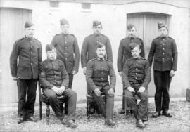 Group portrait of soldier-cadets