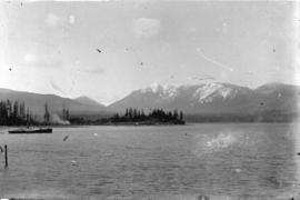 [Boat in Burrard Inlet, near Brockton Point]