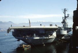Aircraft carrier in Vancouver Harbour [Coral Sea]