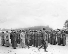 [The women of the Vancouver Volunteer Reserve being inspected by the Duke of Connaught at Hasting...