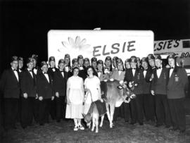 Gizeh Shriners with Elsie the Cow and her offspring, Beauregard