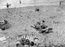 Sunbathers on Second Beach