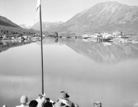 Carcross Y.T. from bow of boat