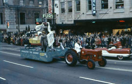 [Grey Cup parade, downtown Vancouver]