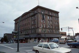 Hotel at southwest corner of Gore and Keefer Street