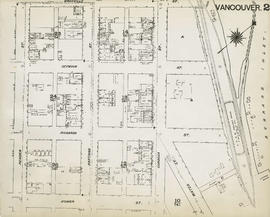 Plan of Vancouver, 1889 [fire map] : [Burrard Inlet to Granville Street to Pender Street to Homer...