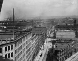 A part of the wholesale section [showing Water Street from the foot of Richards]
